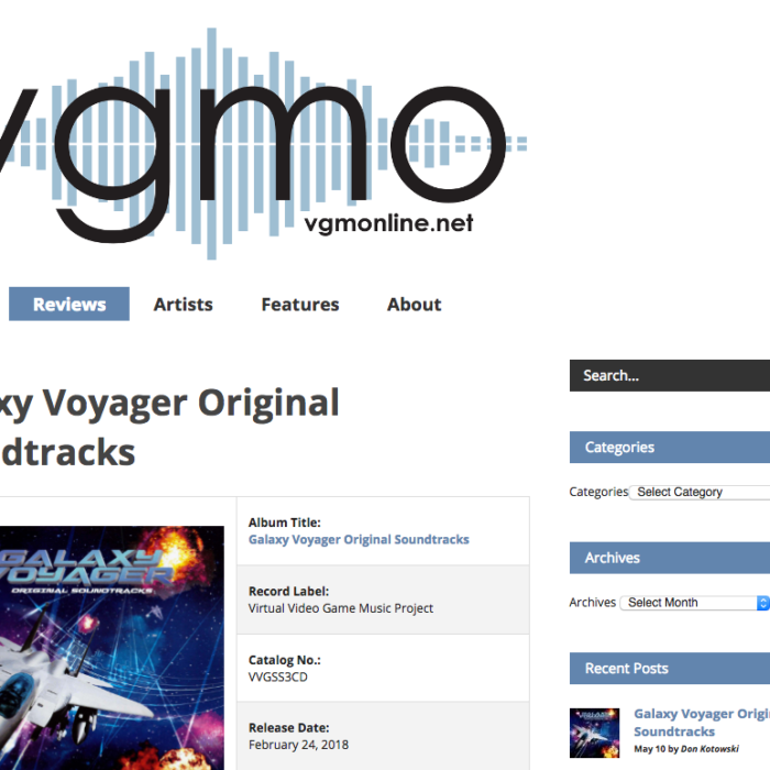 Galaxy Voyager Original Soundtracks レビュー